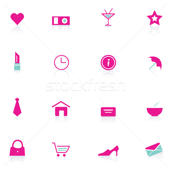 Woman Pink Icons (vector)  Stock photo © lordalea