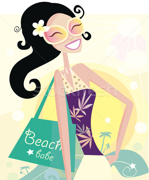 Hot Beach Chic  Stock photo © lordalea