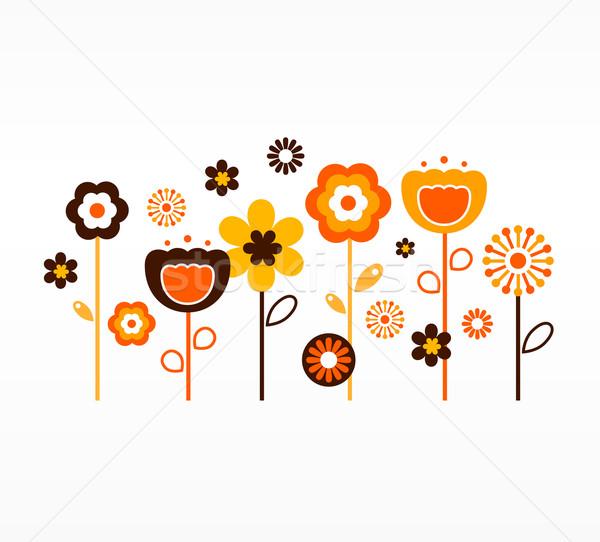 商业照片: 复古 · 春天的花朵 · 采集 ·橙· 棕色 · 花园