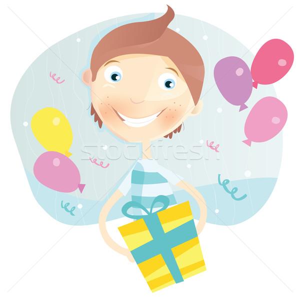 Happy Birthday, Boy! Stock photo © lordalea