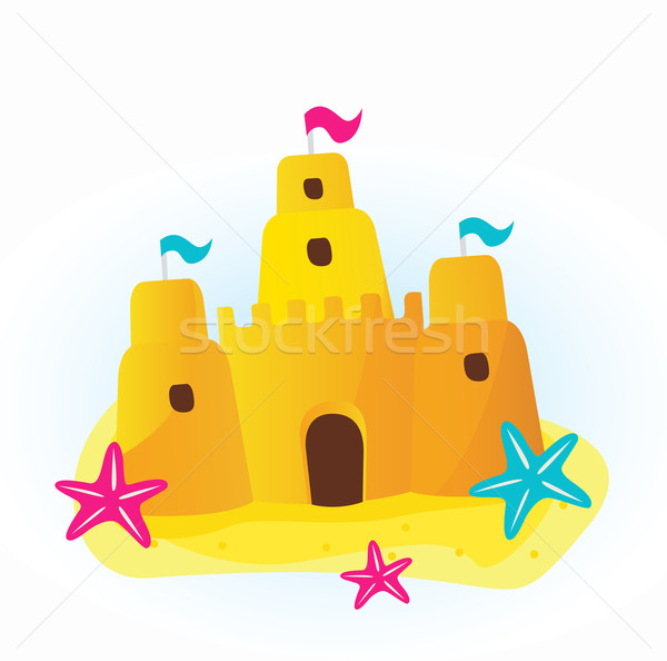 Icon Beach Sandcastle Vector Illustration 169 Lordalea