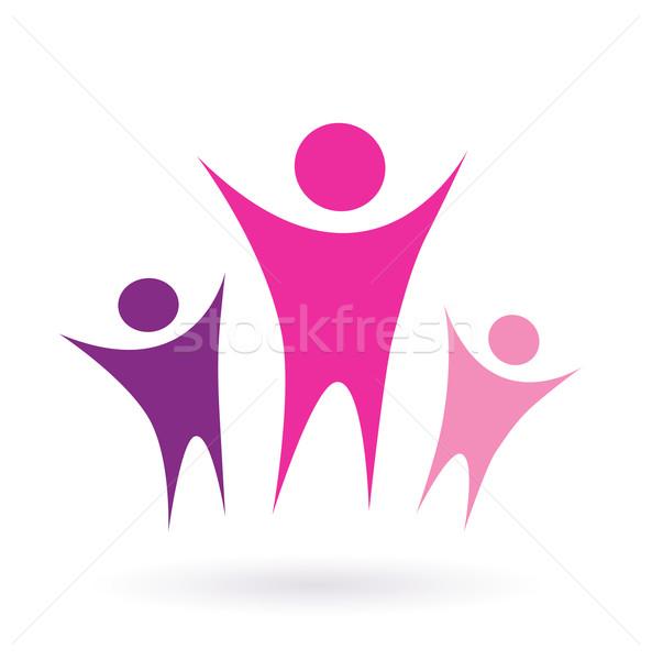 Women group / community icon  - pink  Stock photo © lordalea