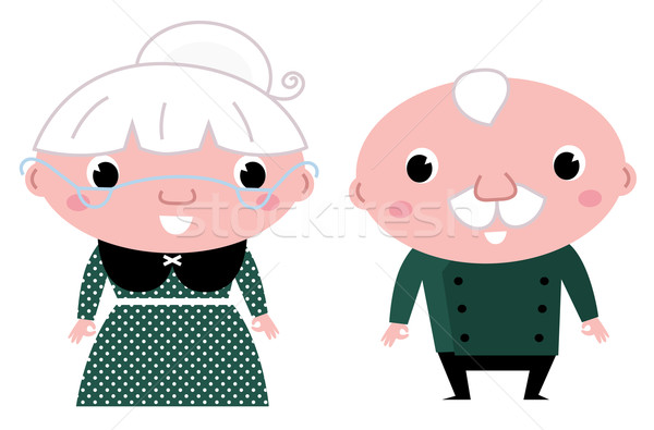 Cute elderly couple: grandmother and grandfather Stock photo © lordalea