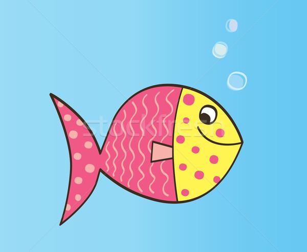 Cartoon Fish  Stock photo © lordalea