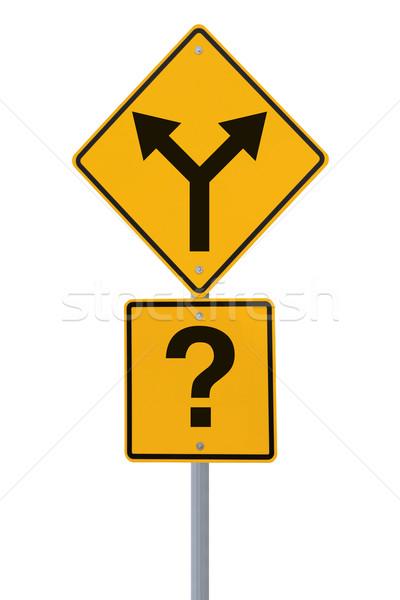 Which Road to Take? Stock photo © lorenzodelacosta