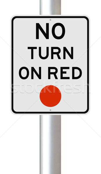 No Turn on Red   Stock photo © lorenzodelacosta