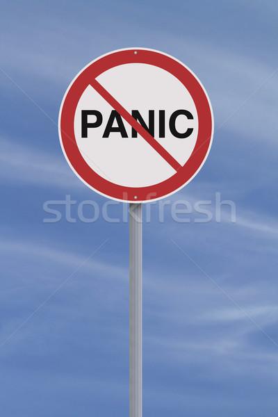 しない パニック 道路標識 にログイン 赤 恐怖 ストックフォト © lorenzodelacosta