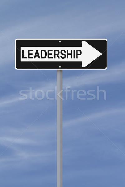 Leadership This Way  Stock photo © lorenzodelacosta