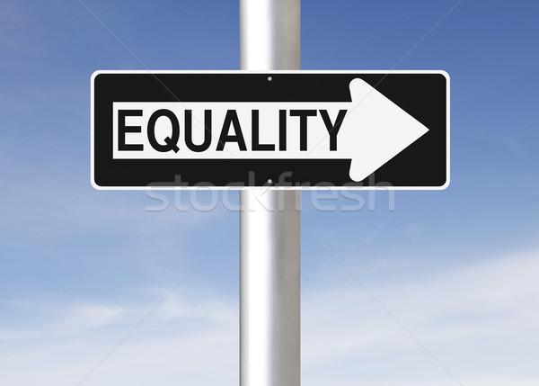 равенство улице подписать небе синий правосудия Сток-фото © lorenzodelacosta
