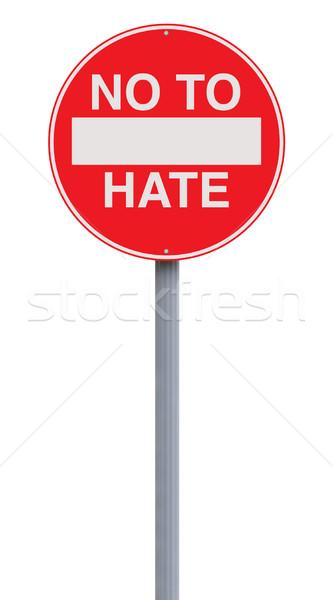 Não Ódio assinar placa sinalizadora conceito Foto stock © lorenzodelacosta