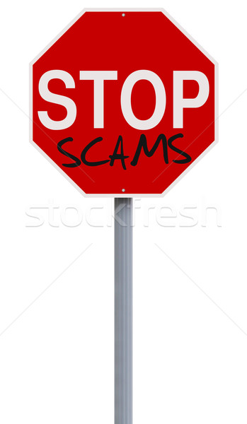 Stop Scams  Stock photo © lorenzodelacosta