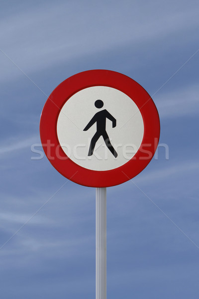 'No Pedestrian Allowed' Sign Stock photo © lorenzodelacosta