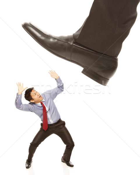 Businessman About To Be Crushed  Stock photo © lorenzodelacosta