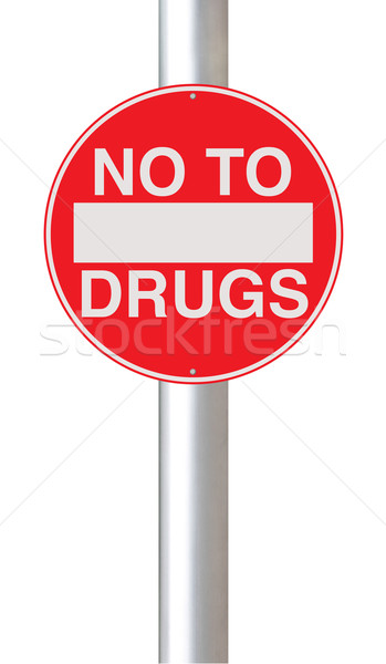 Pas médicaments panneau routier signe cercle abus Photo stock © lorenzodelacosta