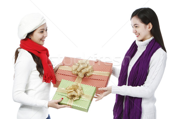 Stock photo: Exchange of Gifts