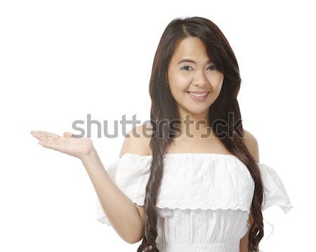 若い女性 白 手のひら 女性 ストックフォト © lorenzodelacosta