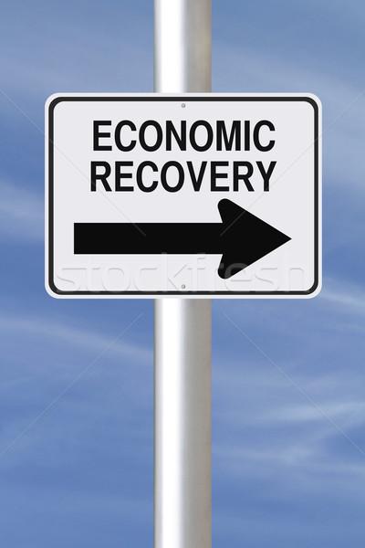 Ekonomiczny w jedną stronę podpisania ulicy działalności Zdjęcia stock © lorenzodelacosta