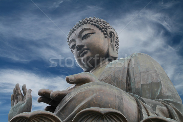 Grand buddha Hong-Kong dramatique ciel Photo stock © lorenzodelacosta
