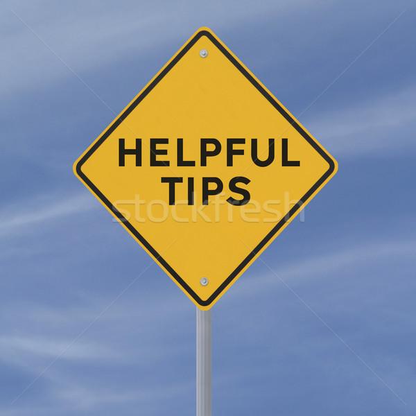 útil consejos senalización de la carretera cielo azul cielo carretera Foto stock © lorenzodelacosta