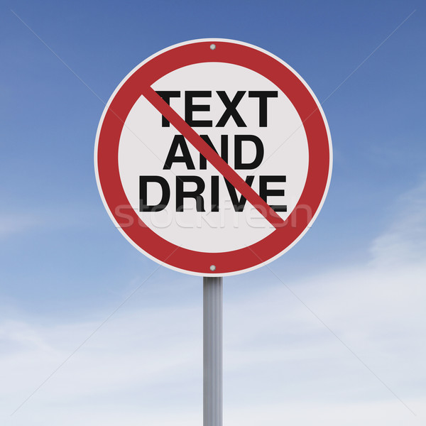 Texting and Driving Not Allowed  Stock photo © lorenzodelacosta