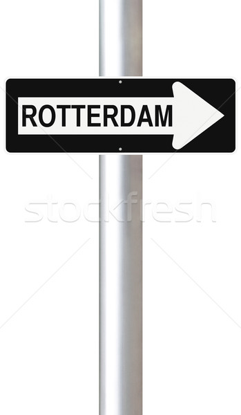 Rotterdam Hollanda imzalamak Avrupa Stok fotoğraf © lorenzodelacosta