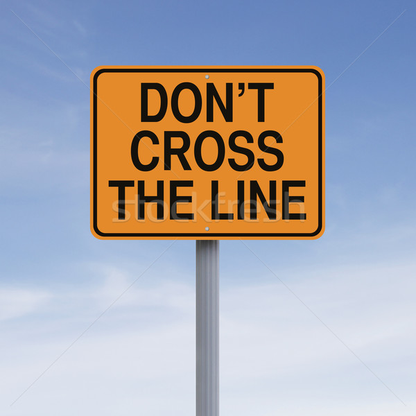 Do Not Cross The Line  Stock photo © lorenzodelacosta