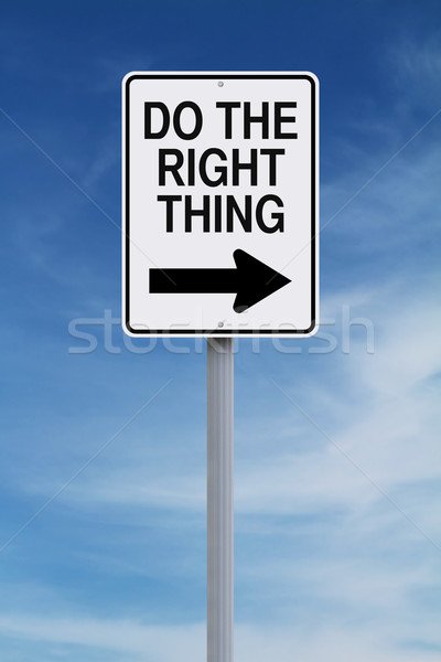 Do The Right Thing  Stock photo © lorenzodelacosta