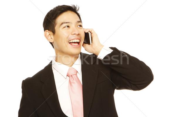 Empresário chamada homem traje de negócios telefone móvel Foto stock © lorenzodelacosta