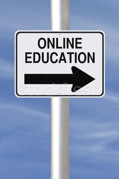 Online Education This Way  Stock photo © lorenzodelacosta