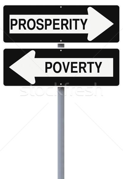 Pobreza rua sinais futuro crescimento Foto stock © lorenzodelacosta