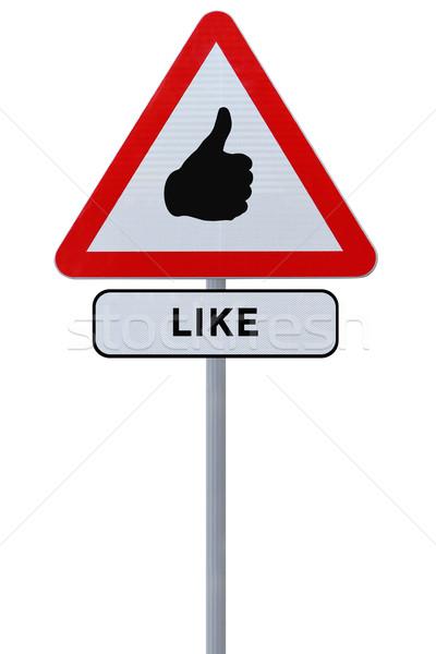 Like Road Sign  Stock photo © lorenzodelacosta