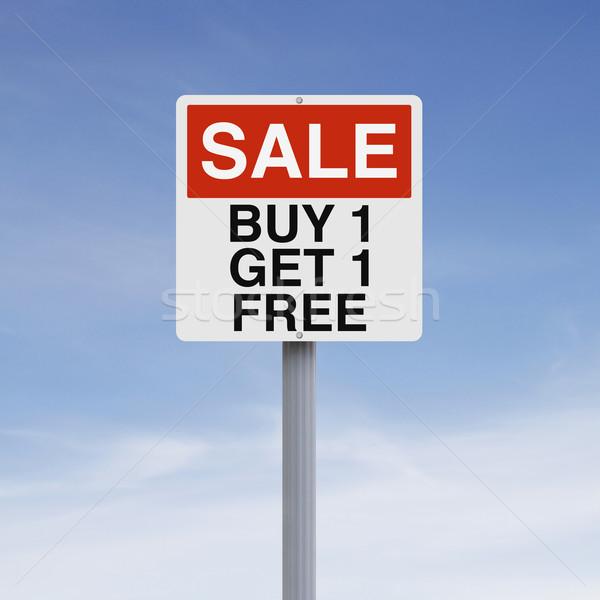 Comprar um assinar de vendas promoção Foto stock © lorenzodelacosta