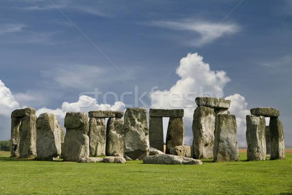 Stonehenge célèbre mystérieux Angleterre monde bleu Photo stock © lorenzodelacosta