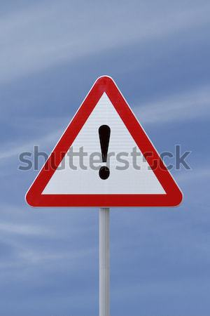 Figyelmeztető jel fehér izolált vágási körvonal biztonság fehér háttér Stock fotó © lorenzodelacosta