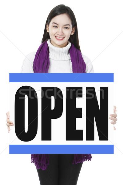 We Are Open  Stock photo © lorenzodelacosta