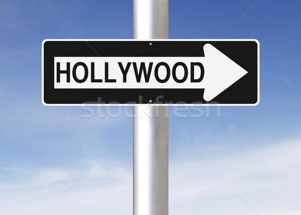 Hollywood USA segno blu Foto d'archivio © lorenzodelacosta