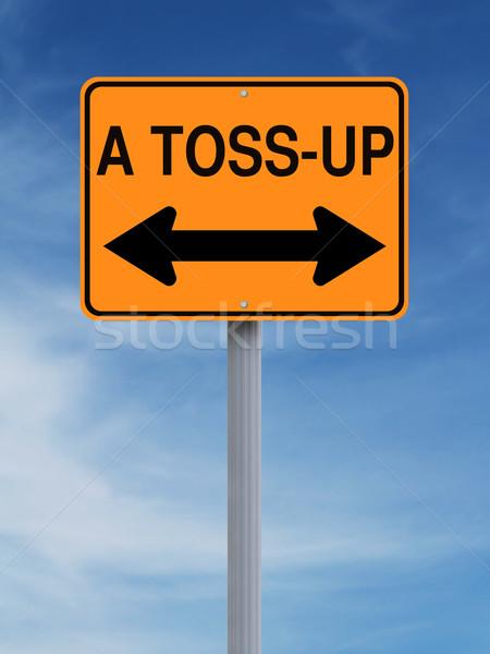 It's a Toss-Up  Stock photo © lorenzodelacosta