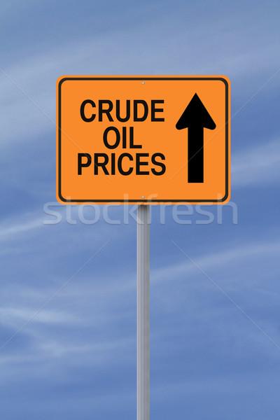 Olaj árak felfelé egyirányú utca növekedés égbolt Stock fotó © lorenzodelacosta