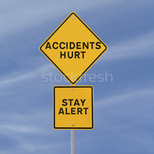 Accidents Hurt!  Stock photo © lorenzodelacosta