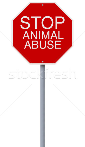 Stop Animal Abuse  Stock photo © lorenzodelacosta