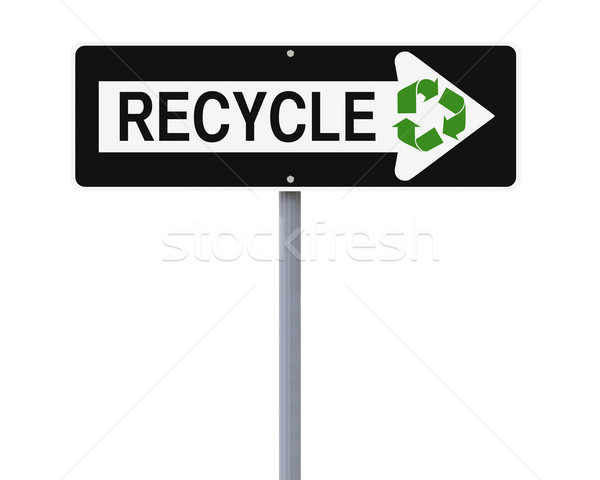 Green Road Sign  Stock photo © lorenzodelacosta