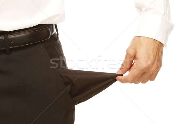 Vide poche blanche affaires Finance Photo stock © lorenzodelacosta