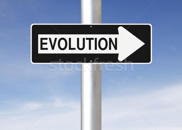 Evoluzione cielo segno concetto sviluppo Foto d'archivio © lorenzodelacosta