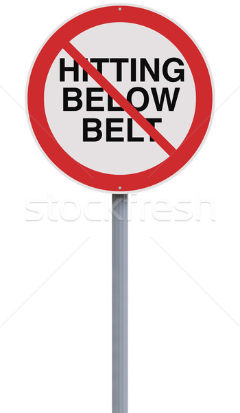 No Hitting Below The Belt  Stock photo © lorenzodelacosta
