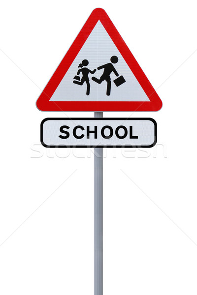 School Children Crossing Sign  Stock photo © lorenzodelacosta