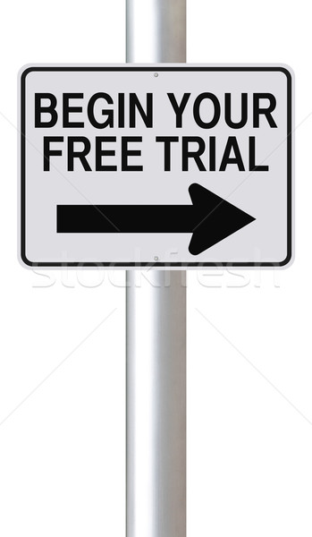 Begin Your Free Trial  Stock photo © lorenzodelacosta