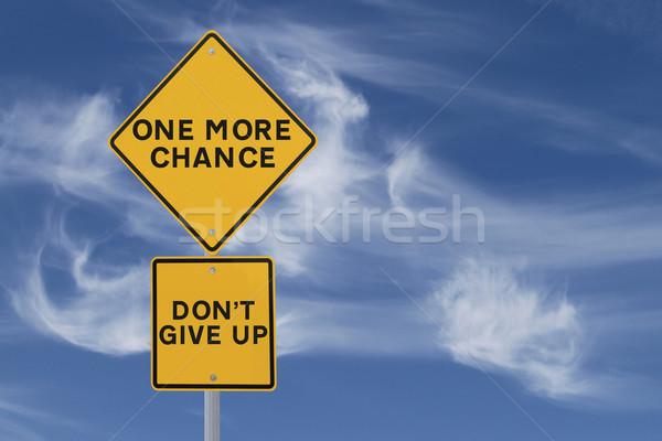 один больше шанс дорожный знак не вверх Сток-фото © lorenzodelacosta