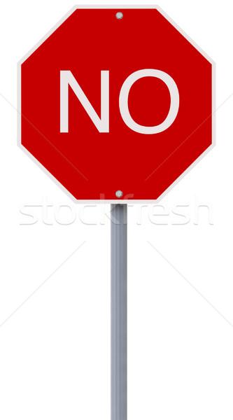 Modified Stop Sign  Stock photo © lorenzodelacosta
