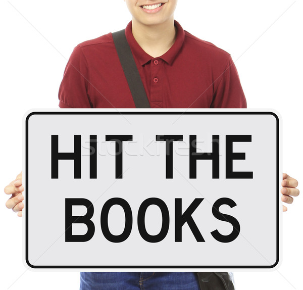Hit the Books  Stock photo © lorenzodelacosta