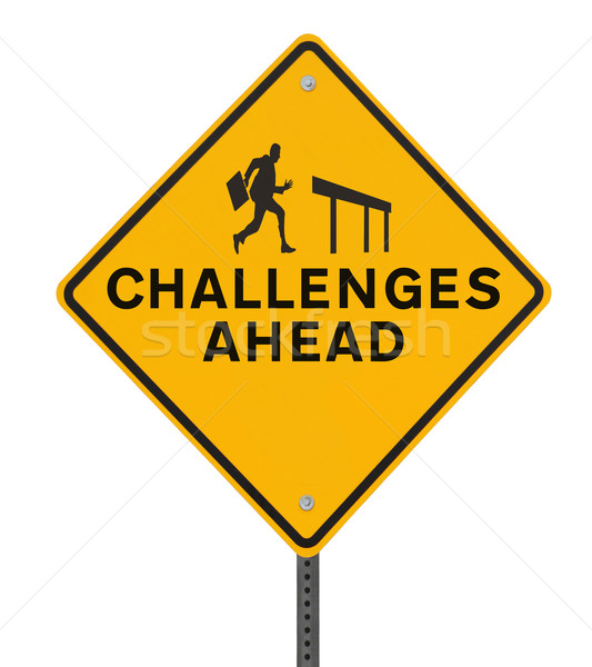 Challenges Ahead Road Sign  Stock photo © lorenzodelacosta